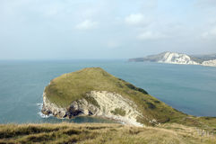 Worbarrow Tout, Dorset Coastal path Stock Images
