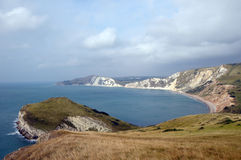 Worbarrow Tout, Dorset Coastal path Stock Photos