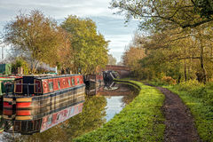 Worcester & Birmingham Canal, Stoke Prior, Worcestershire. Royalty Free Stock Photo