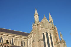 Worcester Cathedral choir transept gable Royalty Free Stock Image