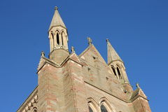 Worcester Cathedral choir transept gable roofline Stock Images