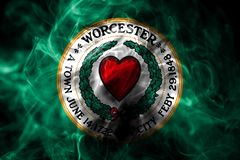 Worcester city smoke flag, Massachusetts State, United States Of. America royalty free illustration