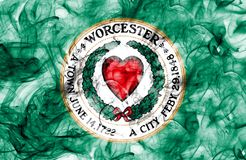 Worcester city smoke flag, Massachusetts State, United States Of. America Stock Photography