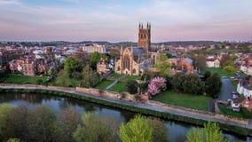 Worcester domkyrka Arkivfoto