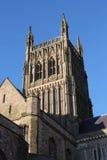 Worcester domkyrkatorn och södra tvärskeppgavel Royaltyfri Fotografi