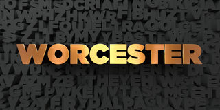 Worcester - Gold text on black background - 3D rendered royalty free stock picture. This image can be used for an online website banner ad or a print postcard vector illustration