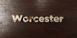Worcester - grungy wooden headline on Maple - 3D rendered royalty free stock image. This image can be used for an online website banner ad or a print postcard royalty free illustration