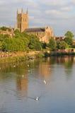 Worcester-Kathedrale Stockbilder