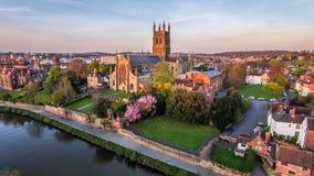 Worcester-Kathedrale stockfotografie