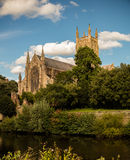 Worcester-Kathedrale Stockfoto