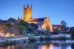 Worcester-Kathedrale Großbritannien lizenzfreie stockfotos