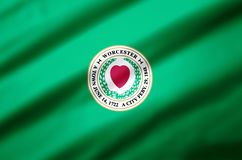 Worcester massachusetts realistic flag illustration. Usable for Background and Texture vector illustration