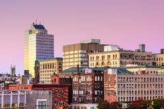 Worcester Massachusetts. Worcester, Massachusetts, USA Skyline at dawn Royalty Free Stock Image