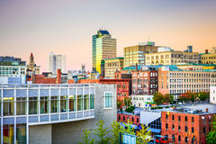 Worcester, Massachusetts, USA. Skyline at dusk Stock Photography