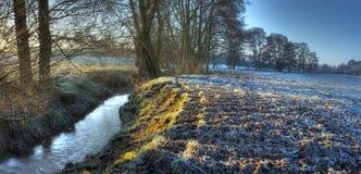 Worcestershire-Ackerland im Winter Stockfoto
