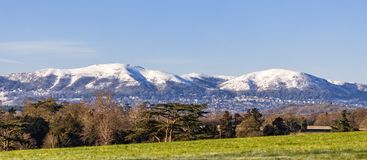 Worcestershire Beacon and North Hill, Worcestershire. Stock Image