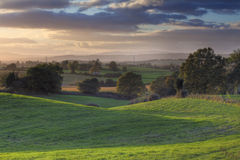 Worcestershire countryside. View at Drayton near Chaddesley Corbett, Worcestershire, England Royalty Free Stock Image