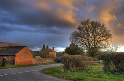 Worcestershire farm at sunset Royalty Free Stock Images