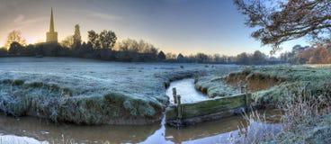 Worcestershire farmland in winter. Floodplains at Chaddesley Corbett, Worcestershire, England Stock Photos
