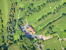 Worcestershire-Golfcursus, Engeland stock foto's