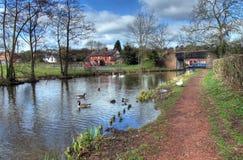 Worcestershire kanal Arkivfoto