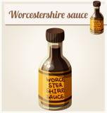 Worcestersoße Ausführliche Vektor-Ikone Lizenzfreie Stockfotografie
