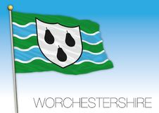 Worchestershire flag, United Kingdom, county of UK Stock Photography