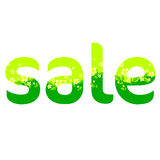 Word «Sale» made from flowers and leaves Royalty Free Stock Photo