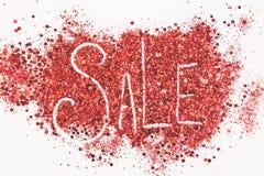 Word 'verkoop 'op wordt geschreven schittert achtergrond die stock foto