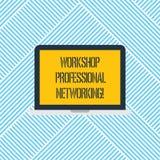Word écrivant à atelier des textes la mise en réseau professionnelle Concept d'affaires pour que les activités augmentent l'ordin illustration stock