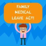 Word écrivant à famille des textes l'acte médical de congé E illustration de vecteur