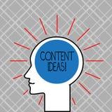Word écrivant à texte des idées satisfaites Concept d'affaires pour la pensée ou l'opinion formulée pour la campagne satisfaite illustration de vecteur