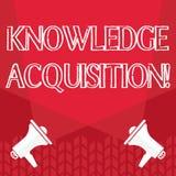 Word écrivant l'acquisition de connaissance des textes Concept d'affaires pour le processus d'extraire la connaissance à partir illustration de vecteur
