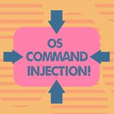 Word écrivant l'injection d'OS Comanalysisd des textes Concept d'affaires pour la technique d'attaque utilisée pour l'exécution i illustration libre de droits