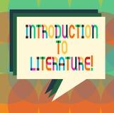 Word écrivant l'introduction des textes à la littérature Concept d'affaires pour la pile préparatoire de cours de composition de  illustration de vecteur