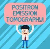 Word écrivant la tomographie d'émission de positons des textes Concept d'affaires pour l'homme fonctionnel de technique d'imageri illustration libre de droits