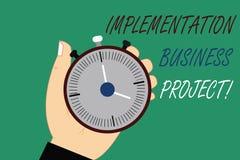 Word écrivant le projet d'affaires d'exécution des textes Concept d'affaires pour le processus d'exécuter un plan ou un projet HU illustration libre de droits