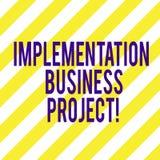 Word écrivant le projet d'affaires d'exécution des textes Concept d'affaires pour le processus d'exécuter une diagonale de plan o illustration de vecteur
