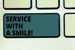 Word écrivant le service des textes avec un sourire E illustration de vecteur