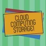 Word écrivant le stockage de Cloud Computing des textes Le concept d'affaires pour des données numériques est stocké dans les pis illustration libre de droits