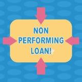 Word écrivant le texte exécutant non le prêt Concept d'affaires pour dedans transférer la stat d'ici quatre-vingt-dix jours sans  illustration de vecteur