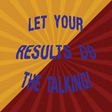 Word écrivant le texte a laissé vos résultats font parler Concept d'affaires pour parler moins plus de ton deux pris par action f illustration de vecteur