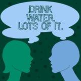 Word écrivant un bon nombre de l'eau de boissons des textes de lui Concept d'affaires pour que les liquides potables maintiennent photo stock