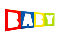 The word. Baby written with alphabet isolated on white background Royalty Free Stock Image