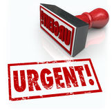 Άμεση γραμματοσήμων δραστηριοποίηση έκτακτης ανάγκης του Word άμεση που απαιτείται Στοκ Εικόνα
