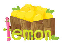 The word. Illustration for the word lemon Royalty Free Stock Images