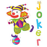 The word. Illustration for the word joker Royalty Free Stock Image