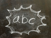 The word abc in bubble sign. Background royalty free stock photos