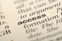 Word access in a dictionary Stock Photo