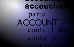 Word account illustration Royalty Free Stock Images